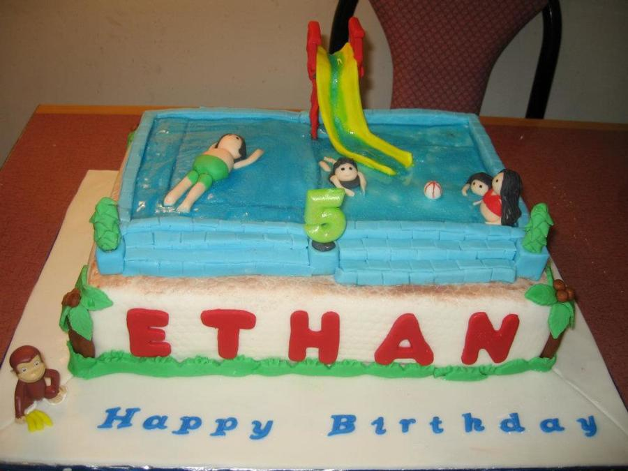 Swimming Pool Cake on Cake Central