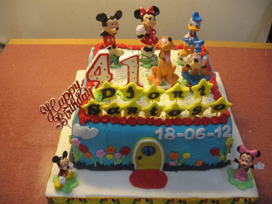 Mickey Mouse And Friends Cake on Cake Central