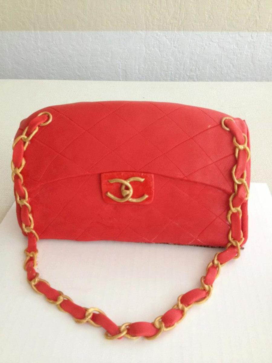 Red Chanel Purse on Cake Central
