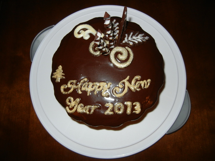 Happy New Year - Chocolate Cake on Cake Central
