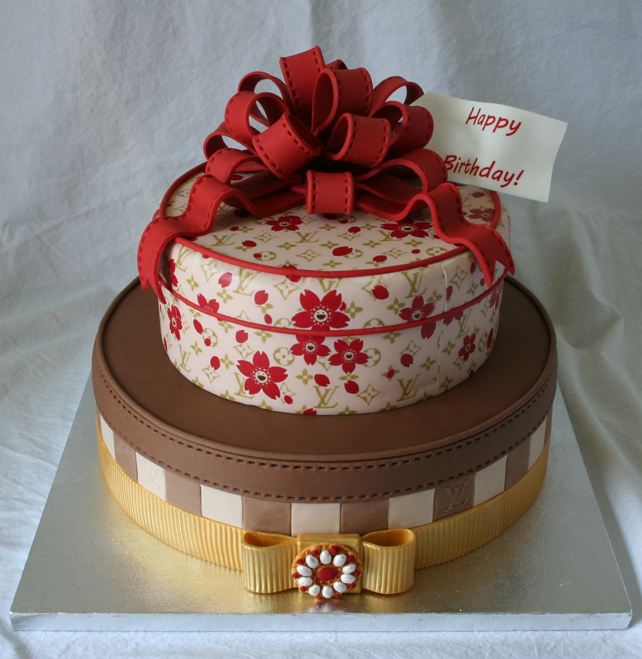 Red Velvet Louis Vuitton Cake With Cream Cheese Frosting