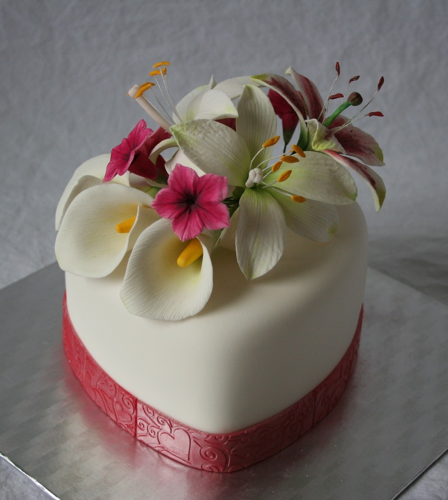 10th Wedding Anniversary Party Ideas: Valentine Cake / 10Th Wedding Anniversary Cake