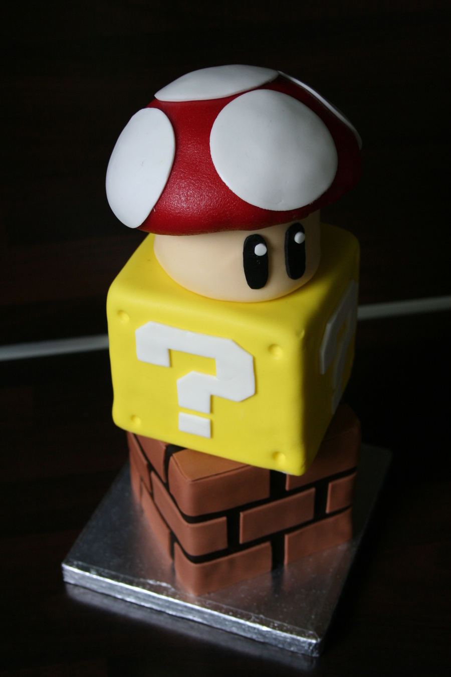 My Husband Likes To Collect All Sorts Of Super Mario Things So I Made Him This Birthday Cake The Cubes Are Both 10 By 10 Cm 39 By 39 I on Cake Central