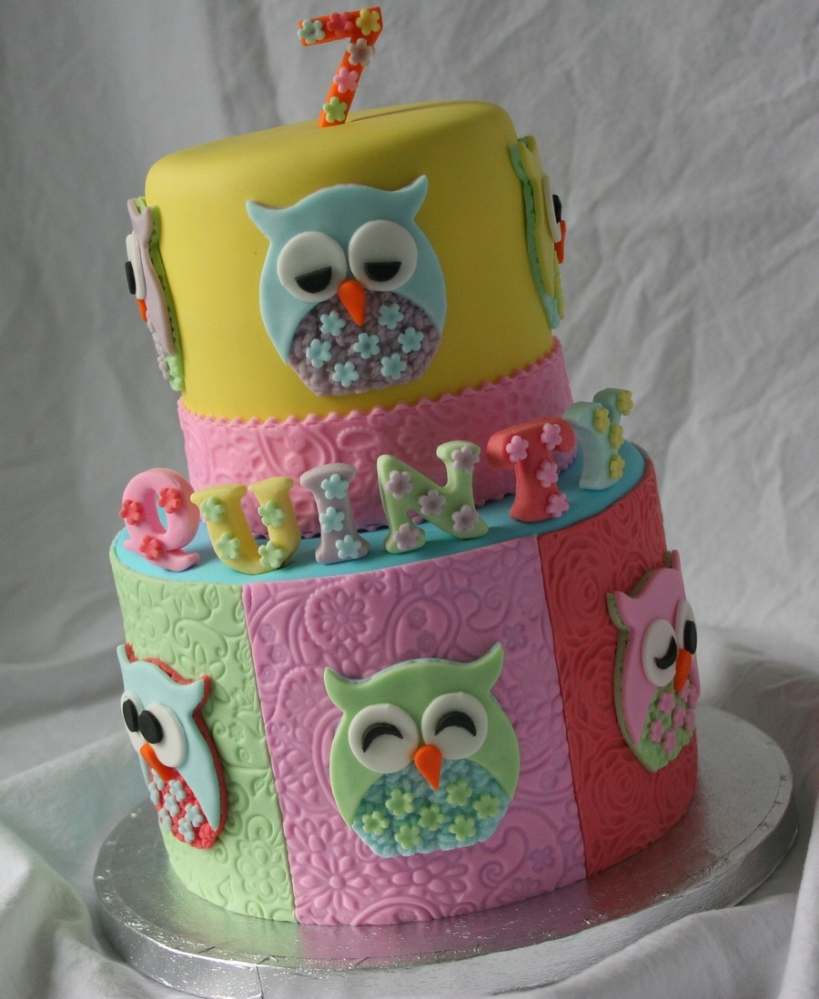 Cute Owl Cake  on Cake Central