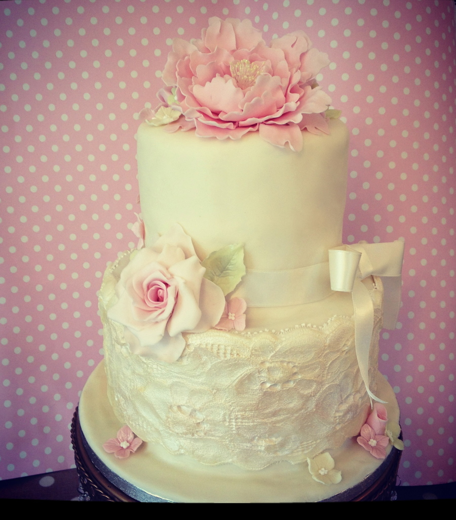 Peony And Tea Rose on Cake Central