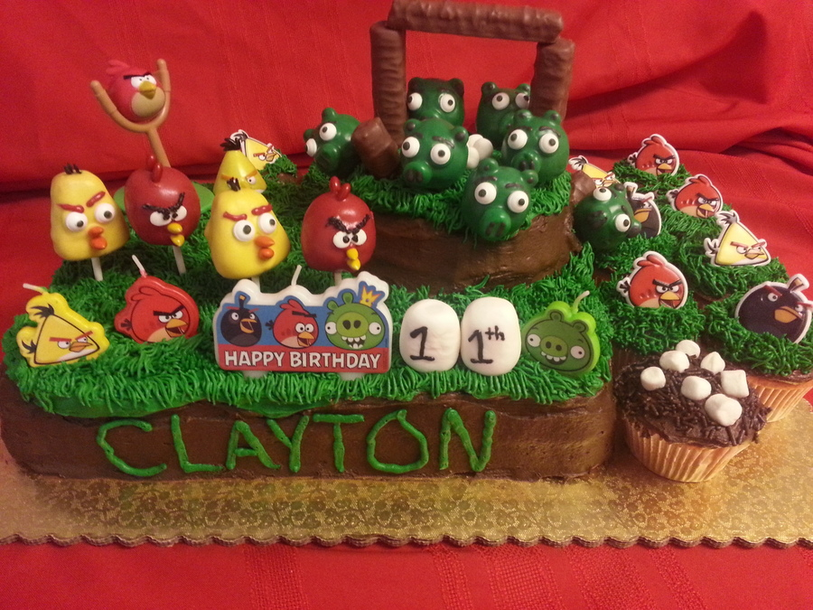Angry Birds Cake, Cake Pops And Cupcakes  on Cake Central