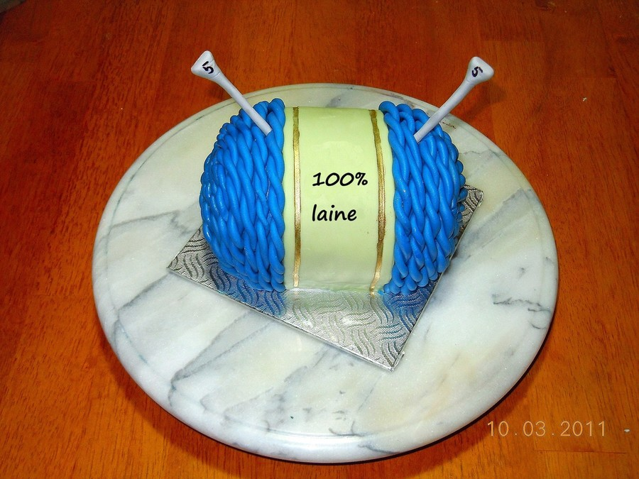 Knitting Ball on Cake Central