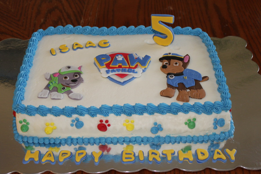 Paw Patrol Cake With Chase And Rocky Cakecentral Com