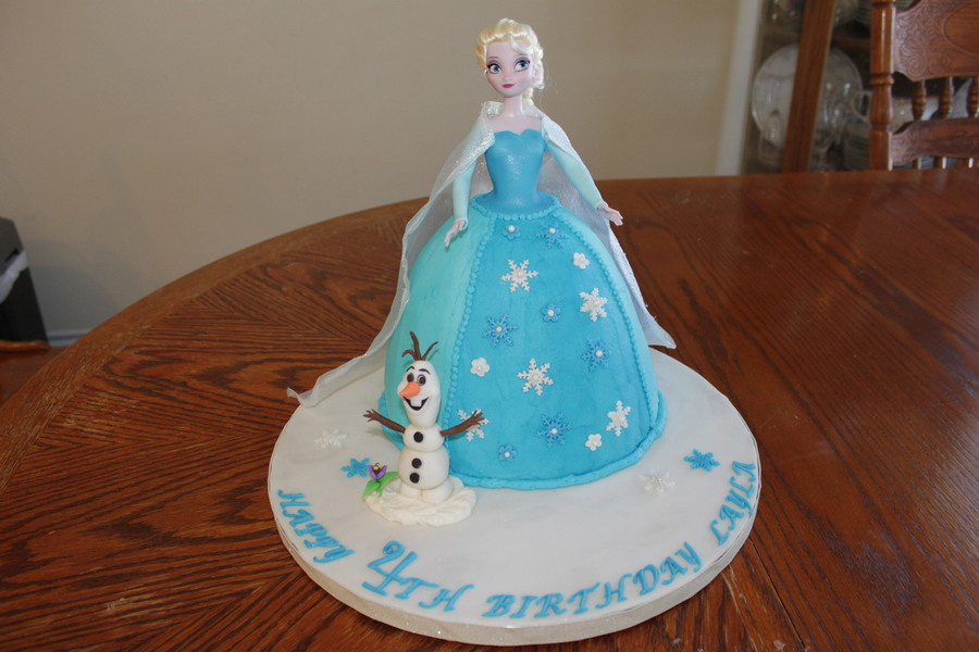 Elsa Doll Cake Decoration : Elsa Frozen Doll Cake With Olaf I Was Inspired By Another ...