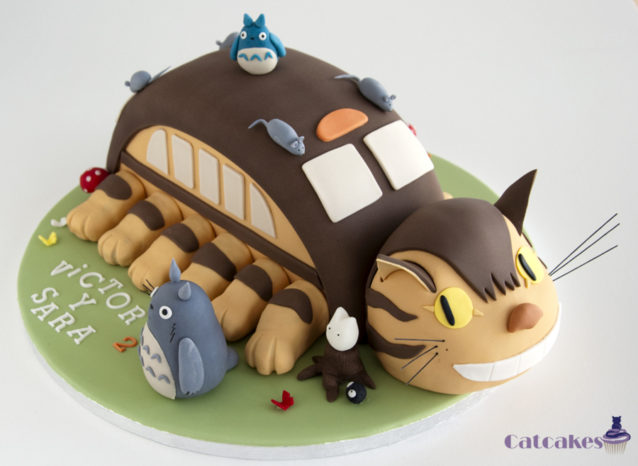 Catbus And Totoro Cake Cakecentral