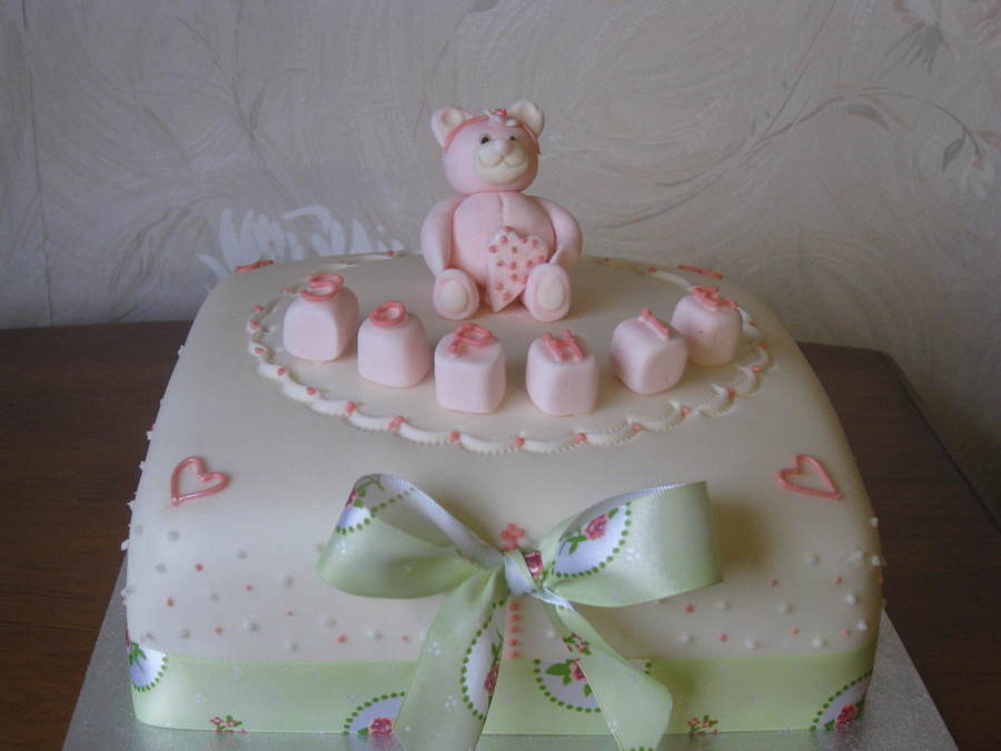 Teddy Christening By Patricia Mann Cake Designs on Cake Central