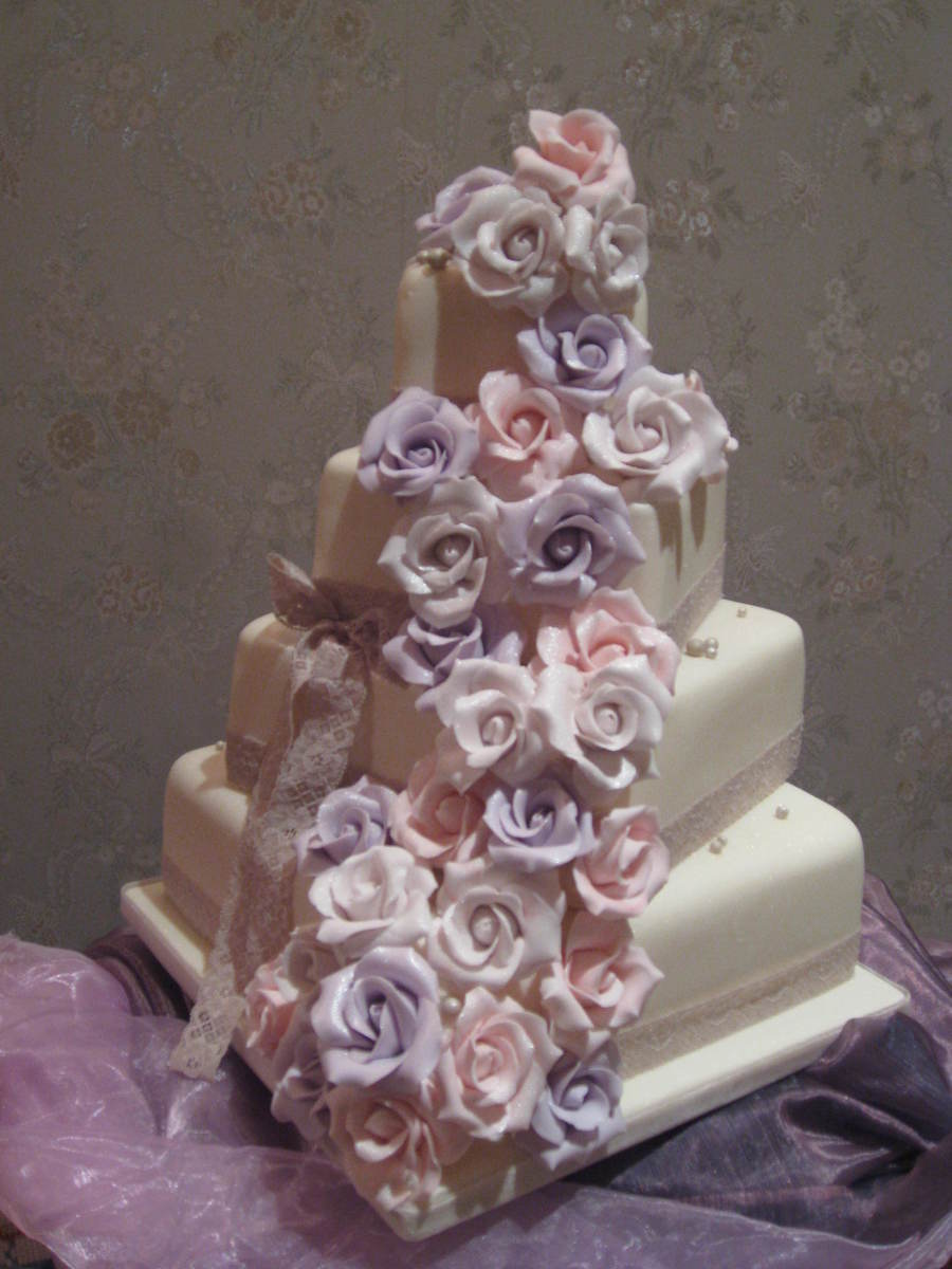 Vintage Rose Cascade By Patricia Mann Cake Designs on Cake Central