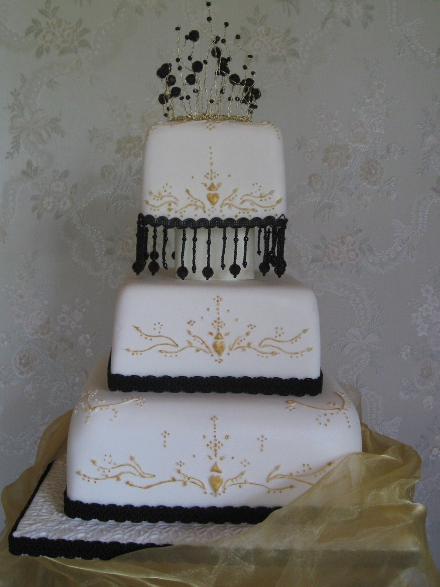 Gold And Black Beads Amp Tiara By Patricia Mann Cake Designs on Cake Central