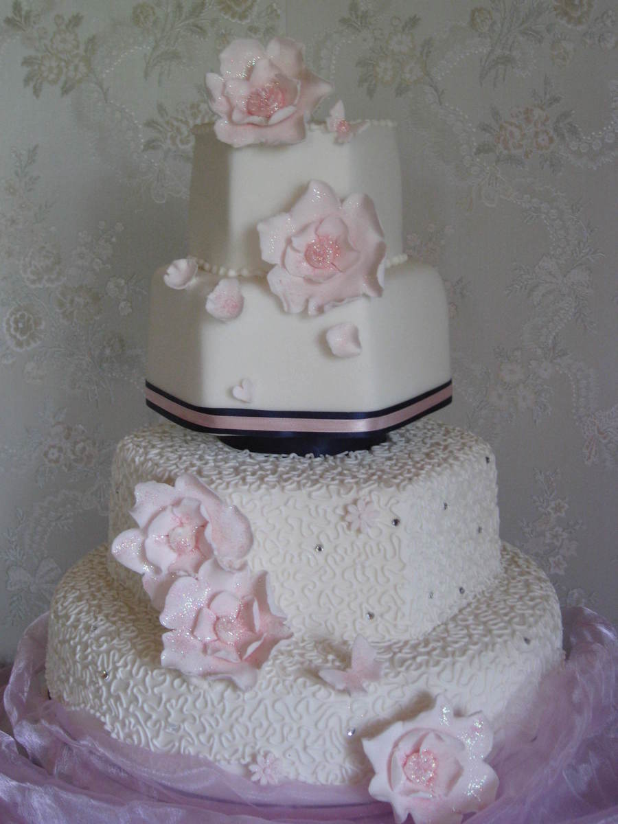 Navy Amp Pink By Patricia Mann Cake Designs on Cake Central