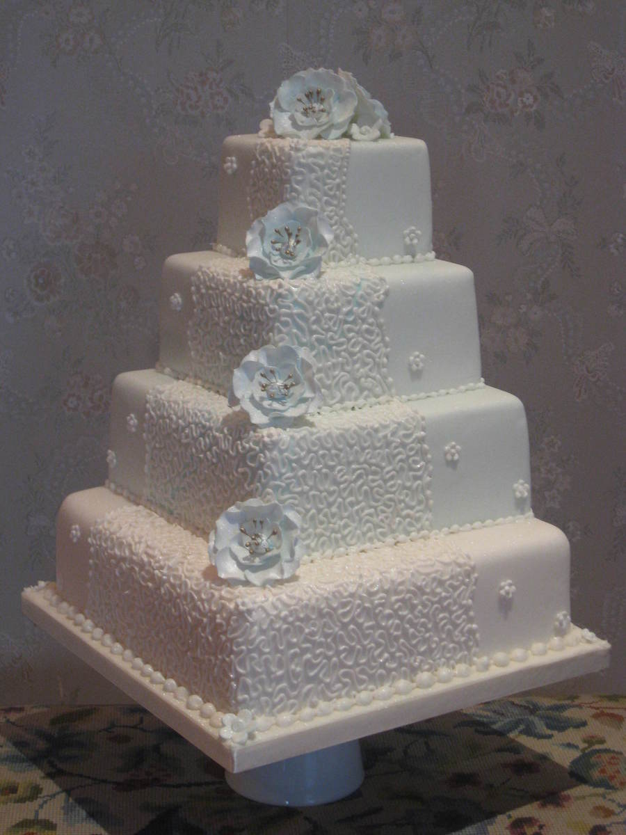 Aqua Waterfall Cake By Patricia Mann Cake Designs on Cake Central