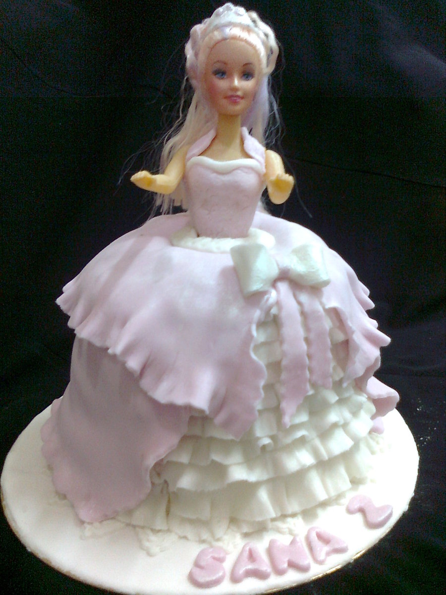 A Doll Cake With Chocolate Filling on Cake Central