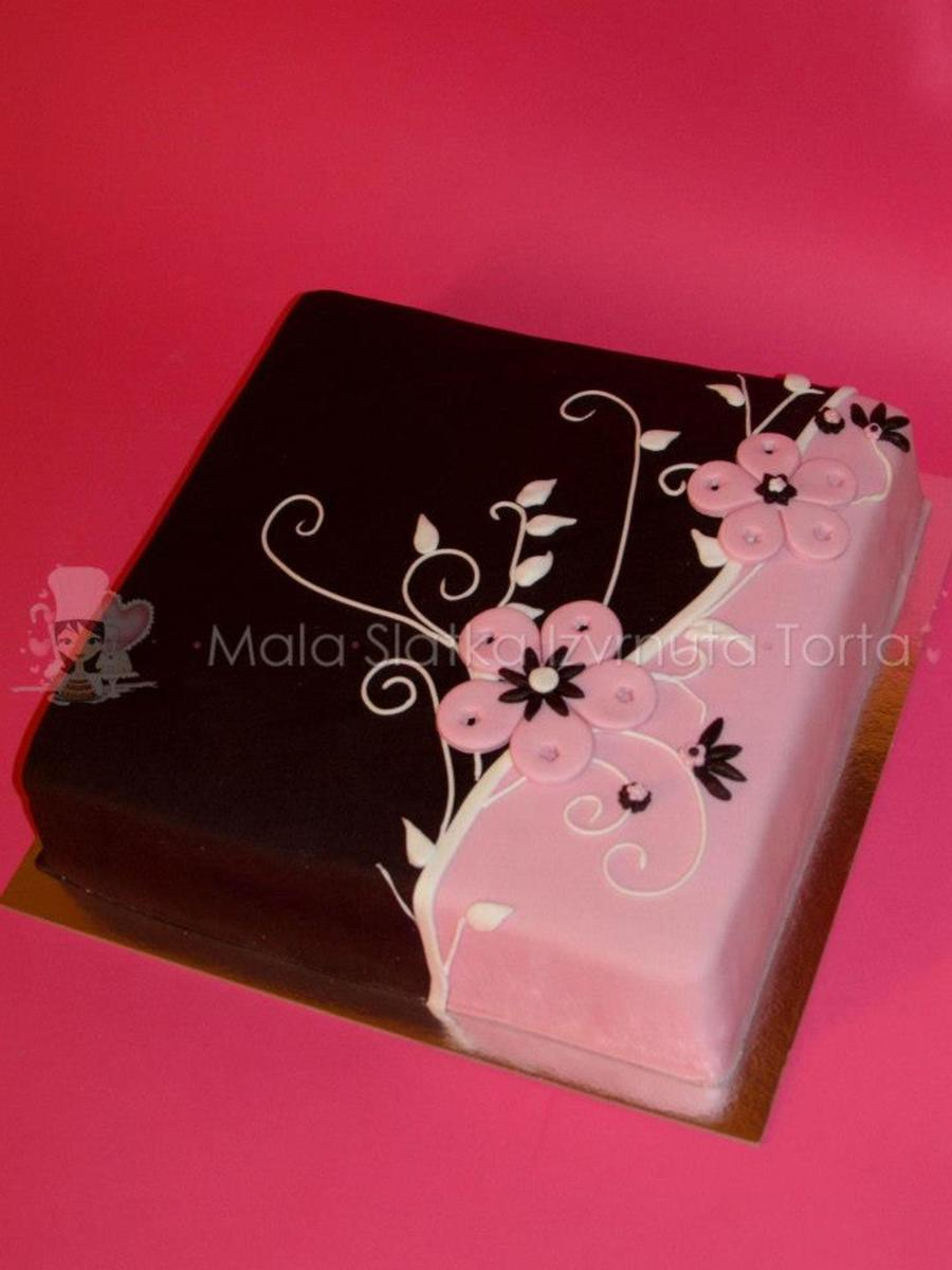 Elegant Brown/pink Cake on Cake Central