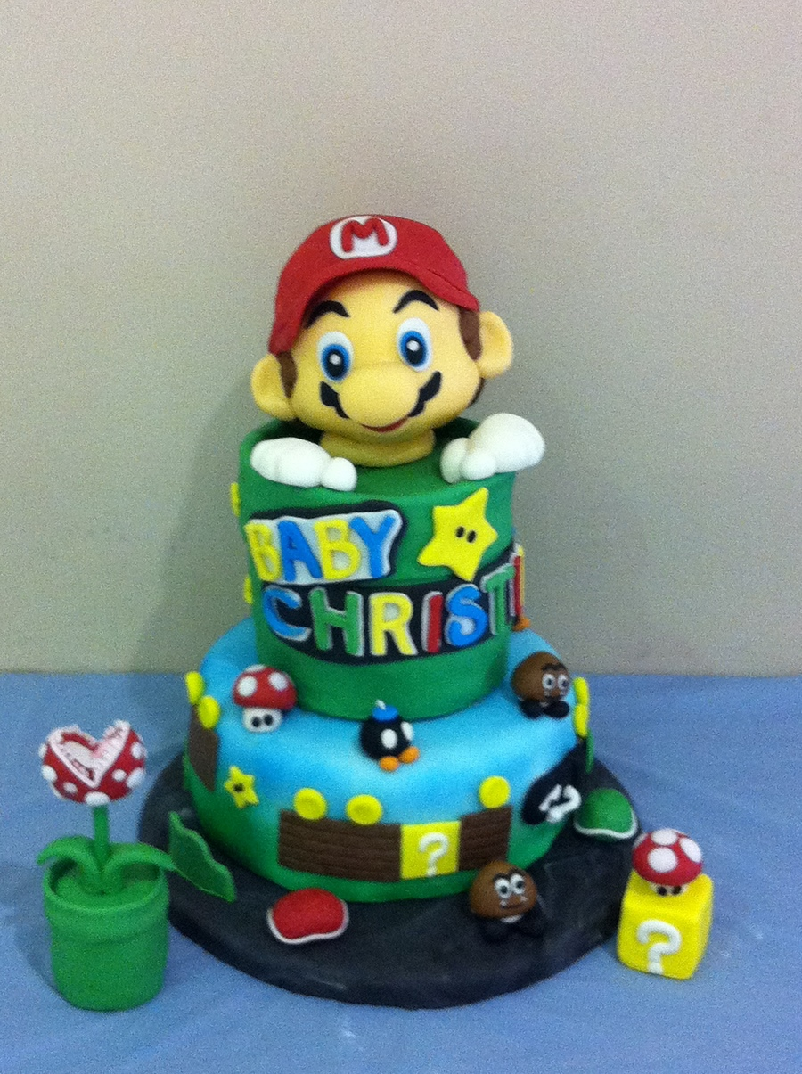 This Is Mario Theme Baby Shower Cake on Cake Central