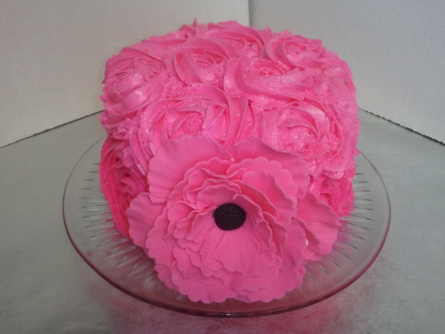Ambre Cake With Peony  on Cake Central