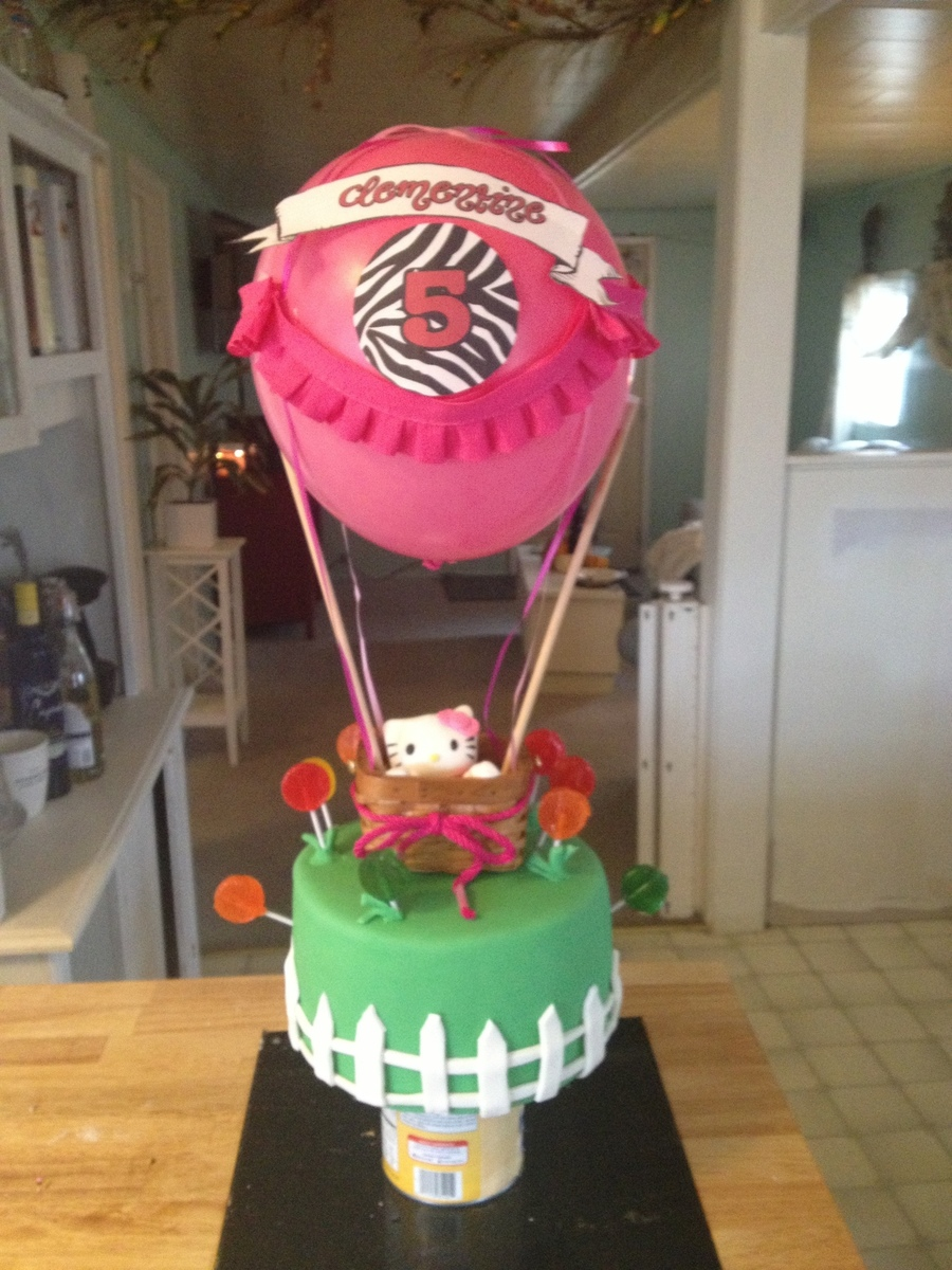 Hello Kitty Hot Air Balloon Birthday Cake on Cake Central