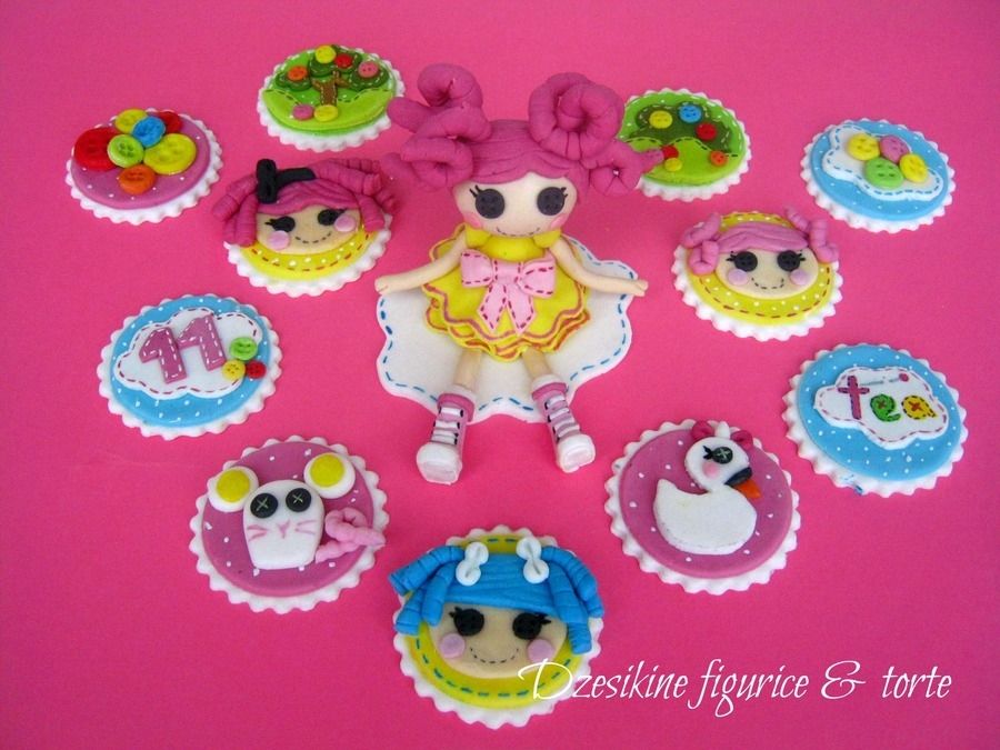 Lalaloopsy Cupcake Topper And Fondant Figurines on Cake Central