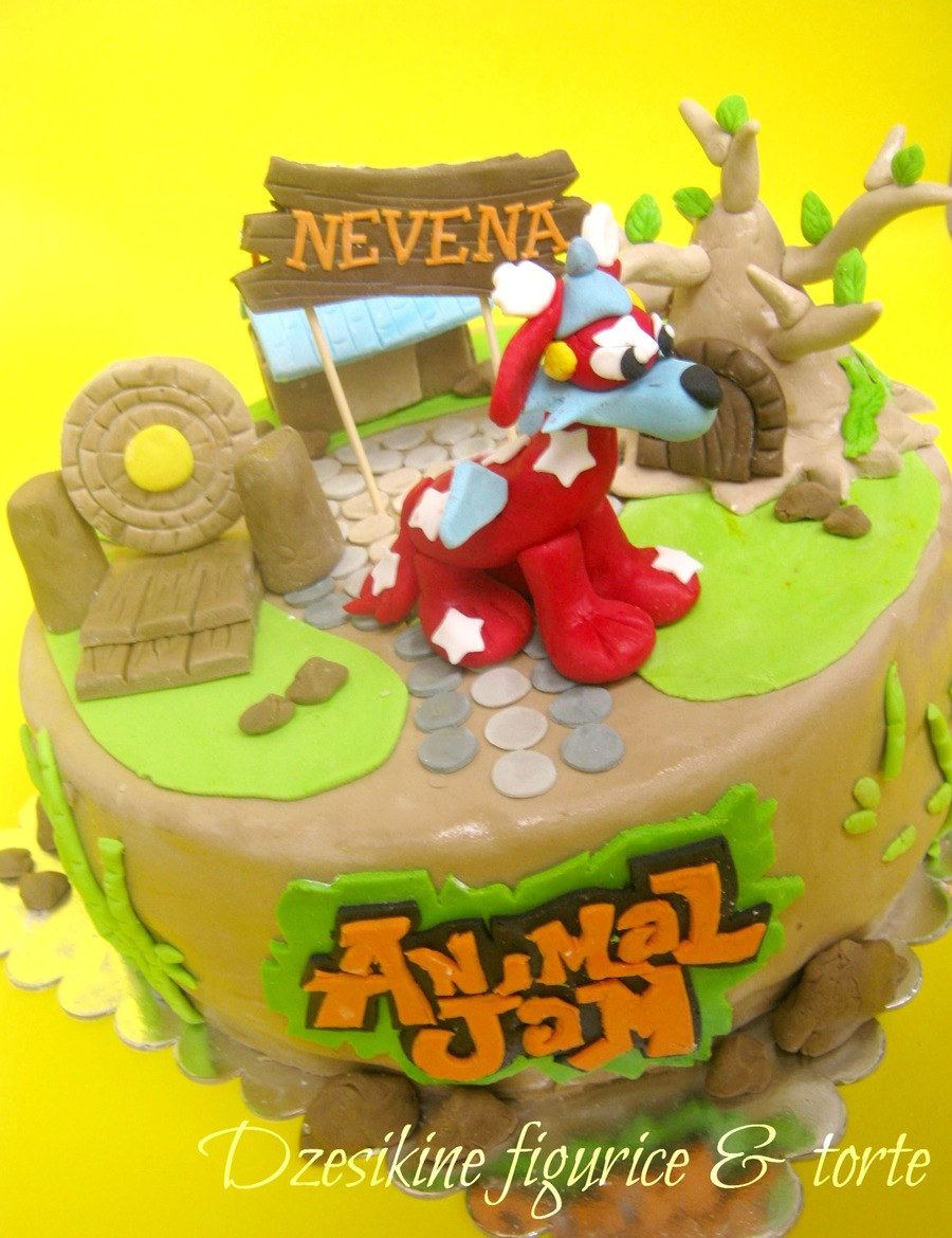 Animal Jam Birthday Cake