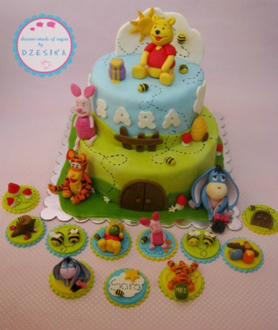 Winnie The Pooh Cake & Cupcake Topper's on Cake Central