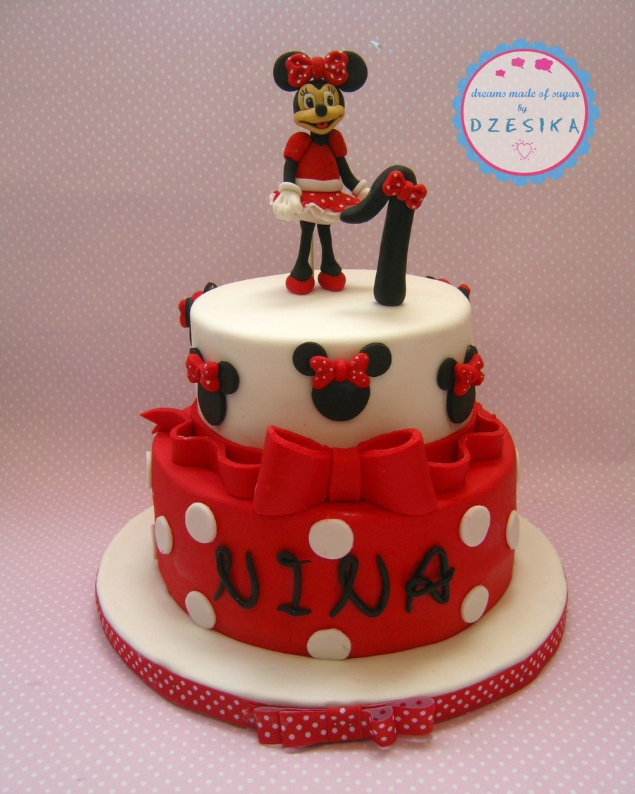 Minnie Mouse , Cake, For Nina First Birthday on Cake Central
