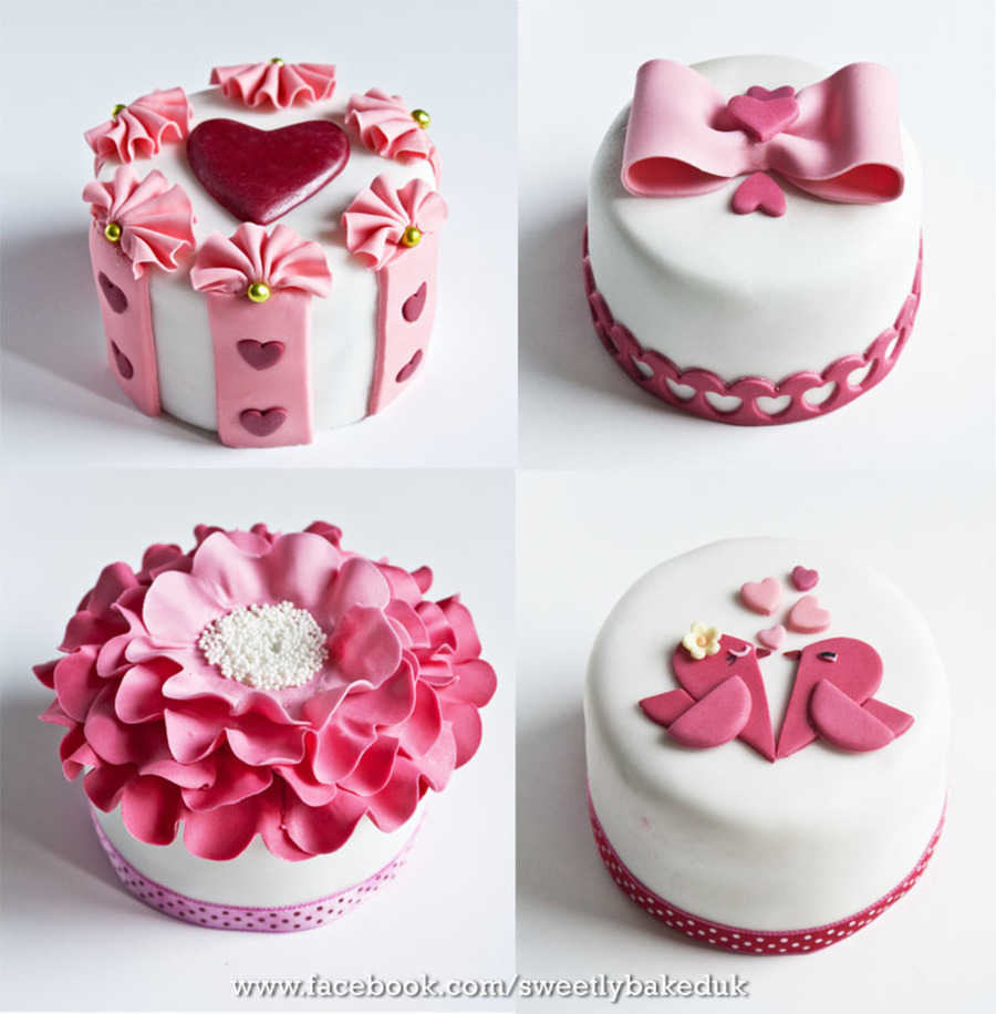 Happy Valentines Day Everyone My Valentines Mini Pink Cake