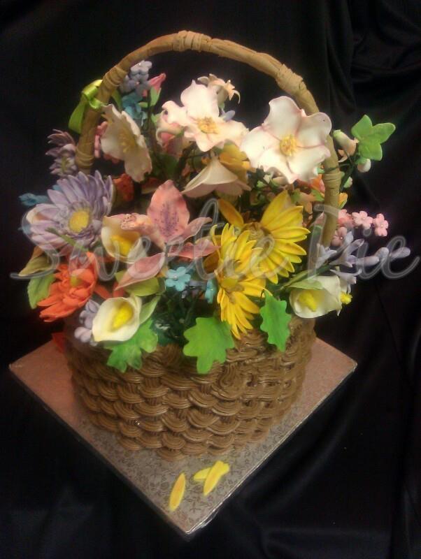 Gumpaste Flower Basket Pictures 119