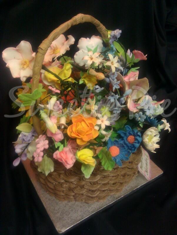 Gumpaste Flower Basket Pictures 100
