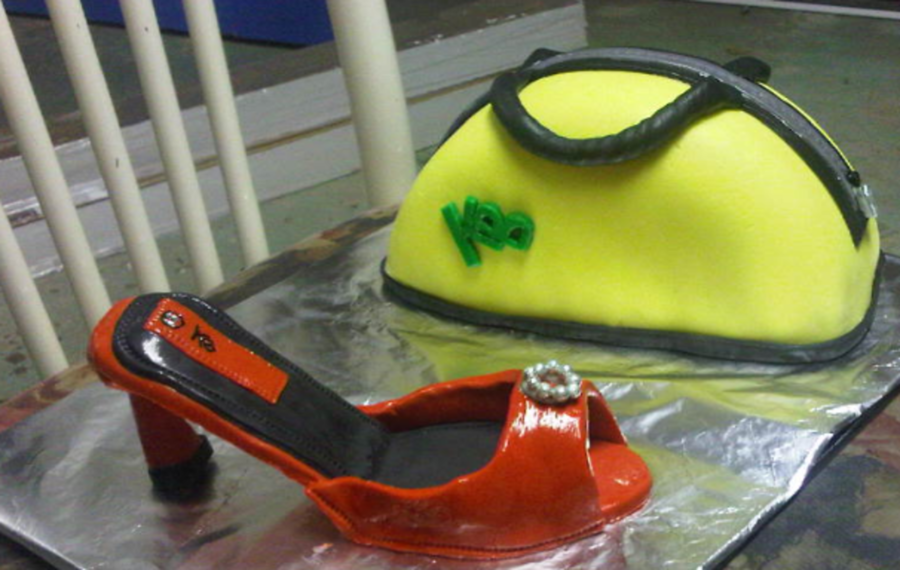 Shoe With High Heel And Purse on Cake Central