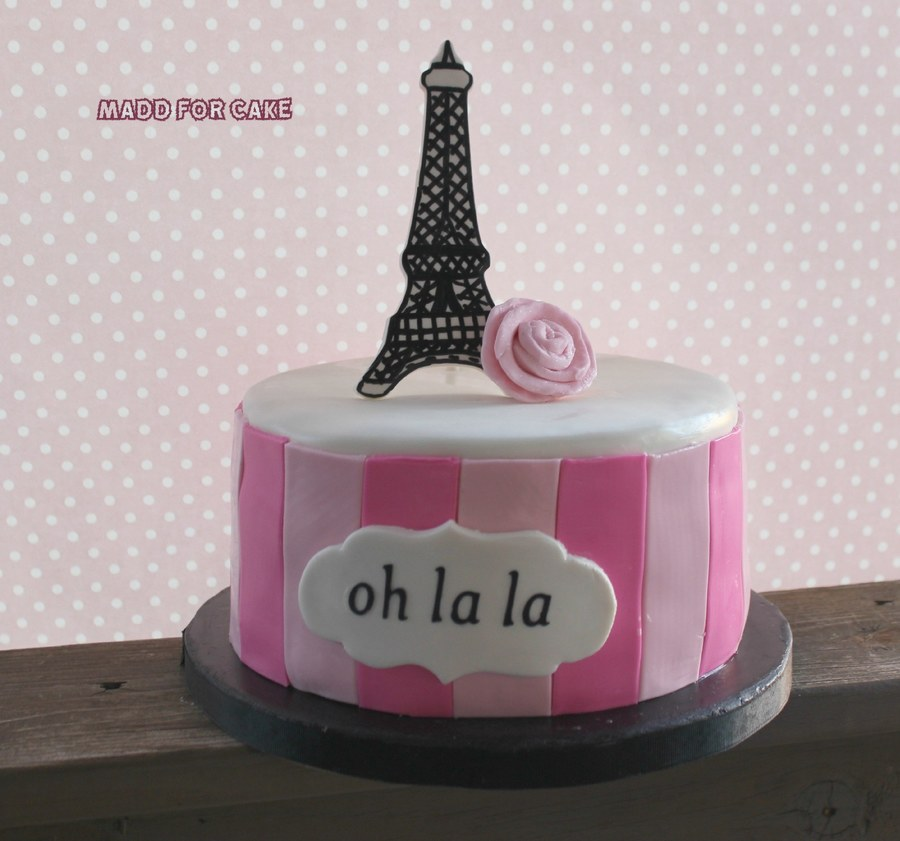 Swell Paris Themed Birthday Cake Cakecentral Com Funny Birthday Cards Online Fluifree Goldxyz