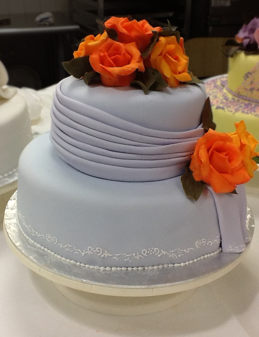Just Took A Wedding Cake Course Last Week At Ice Culinary This Is My Finished Product The Class Was Incredible And I Learned Tons From C on Cake Central