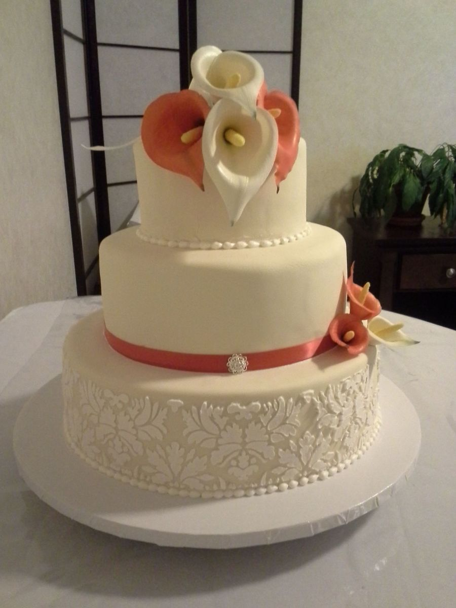 My First Wedding Cake on Cake Central
