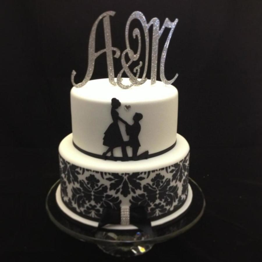silhouette wedding cakes ideas silhouette engagement cake cakecentral 19823