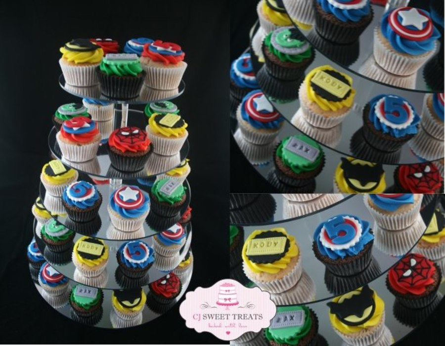 Superhero Inspired For Twin Boys! on Cake Central