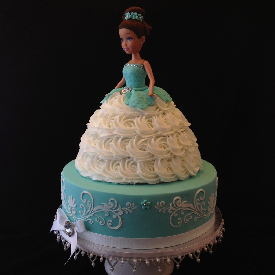 Cake Decoration Doll : Two Tier Doll Cake - CakeCentral.com