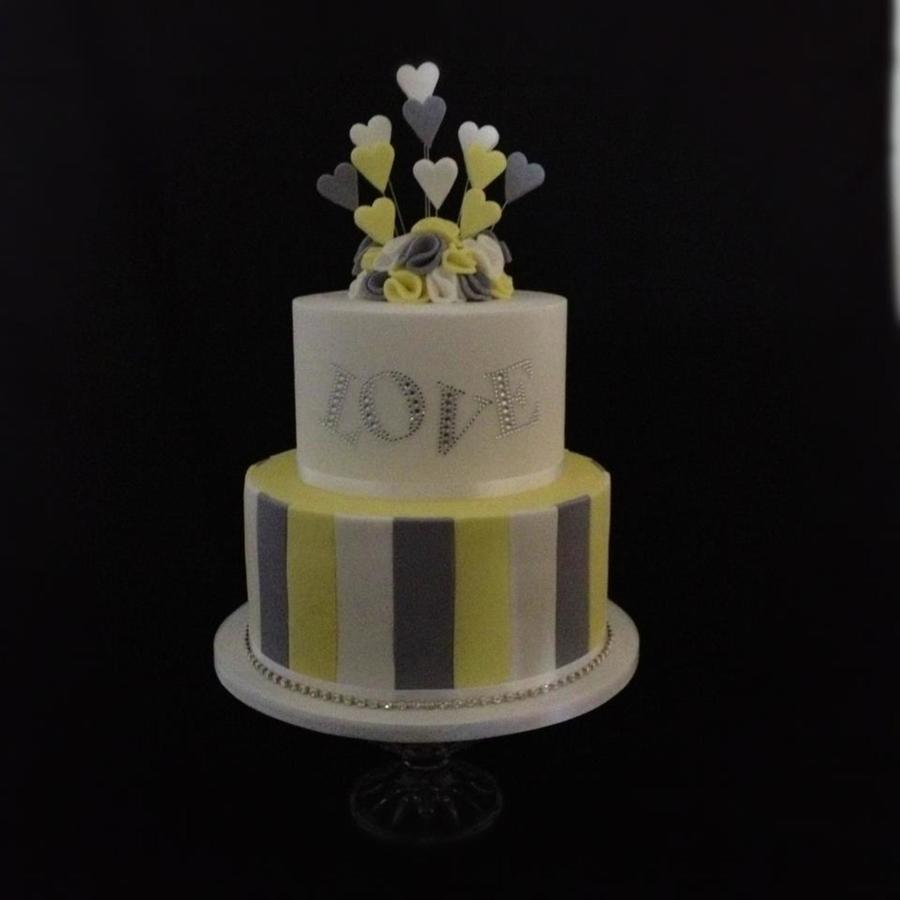Funky Engagement Cake on Cake Central