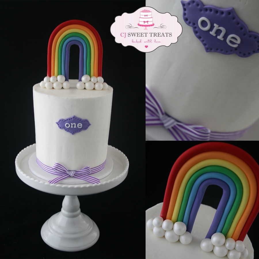 Double Barrel Rainbow on Cake Central