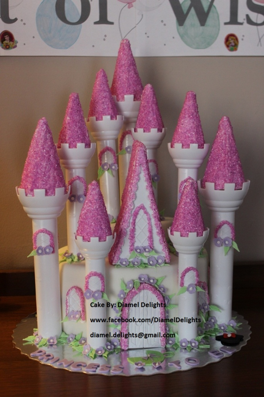 princess themed baby shower cake by diamel delights