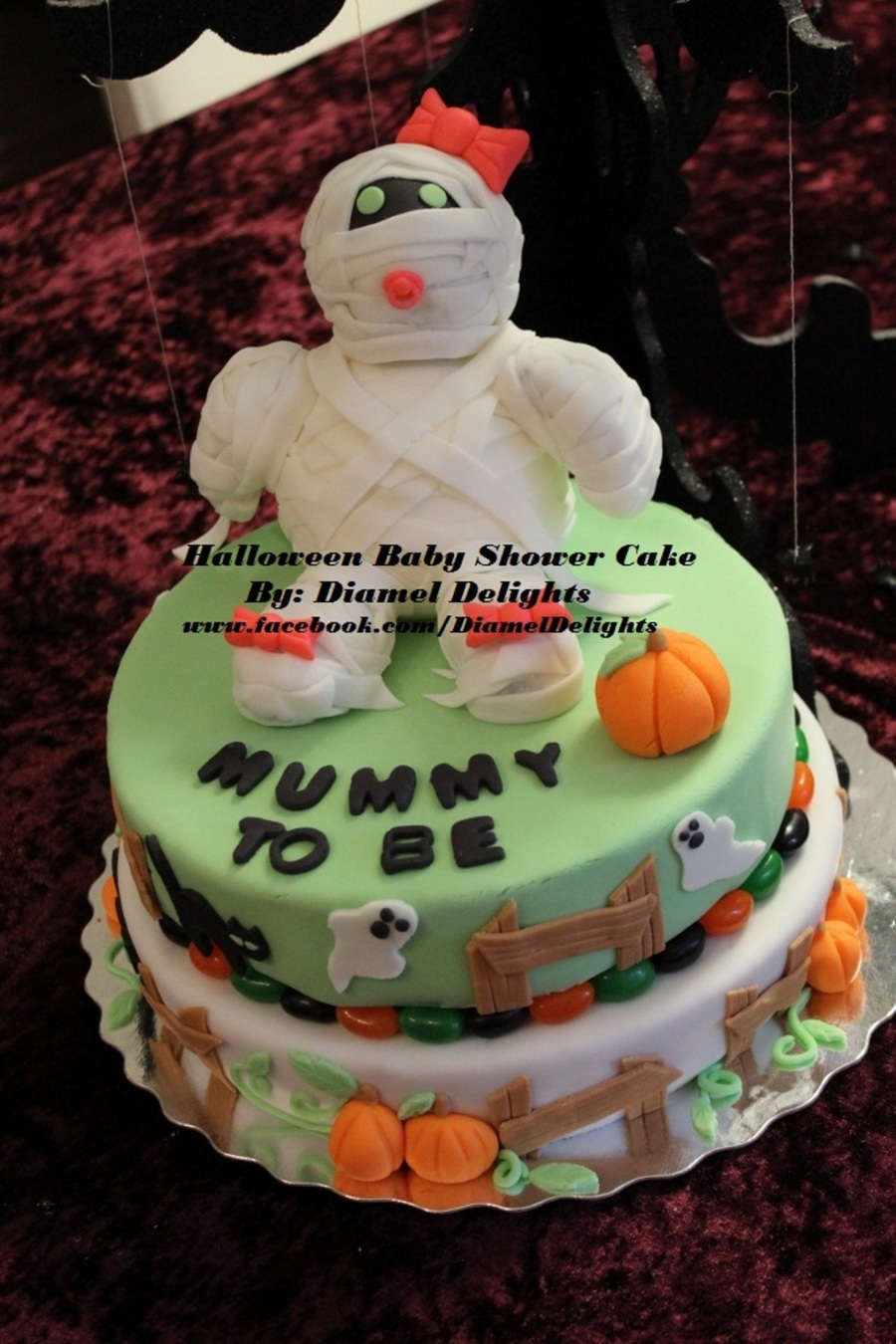 Halloween Baby Shower Cake  on Cake Central