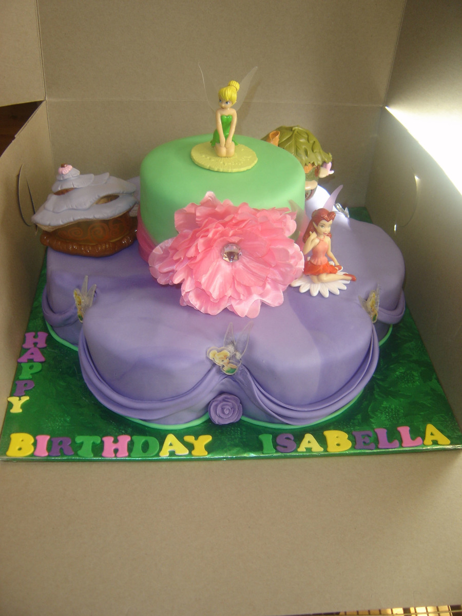 Tinkerbell 2 Tier Birthday Cake Cakecentral