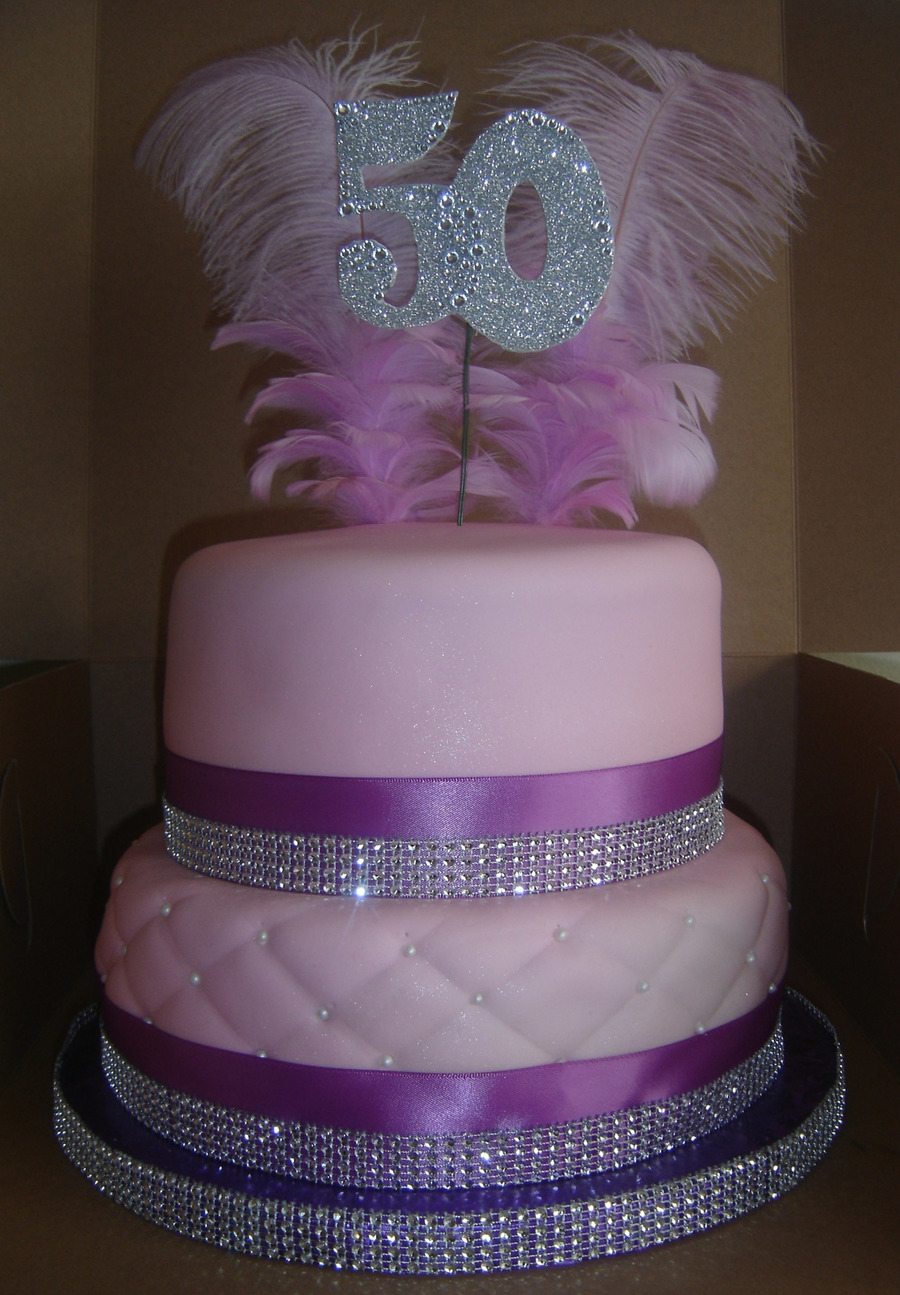 2 Tier 50Th Bling Cake On Central