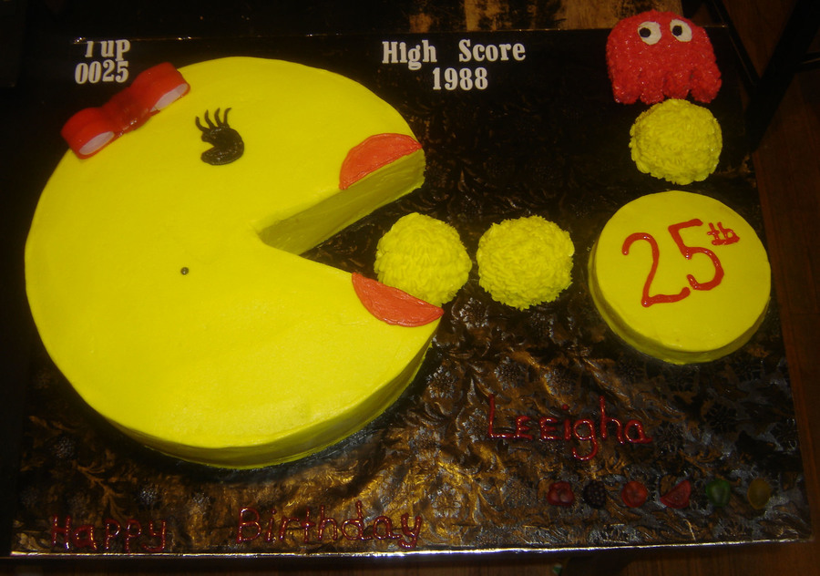 Ms Pacman Birthday Cake Cakecentral