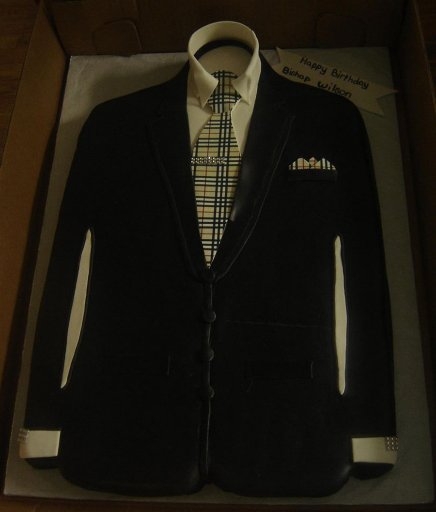 Burberry Swag Suit Jacket Birthday Cake Cakecentral Com