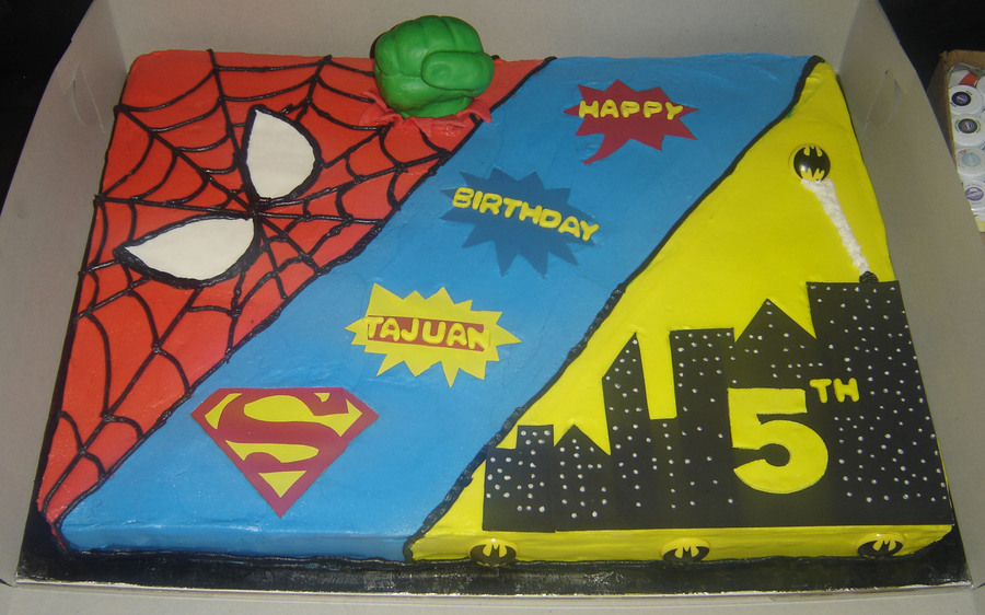 Superhero Birthday Cake CakeCentralcom