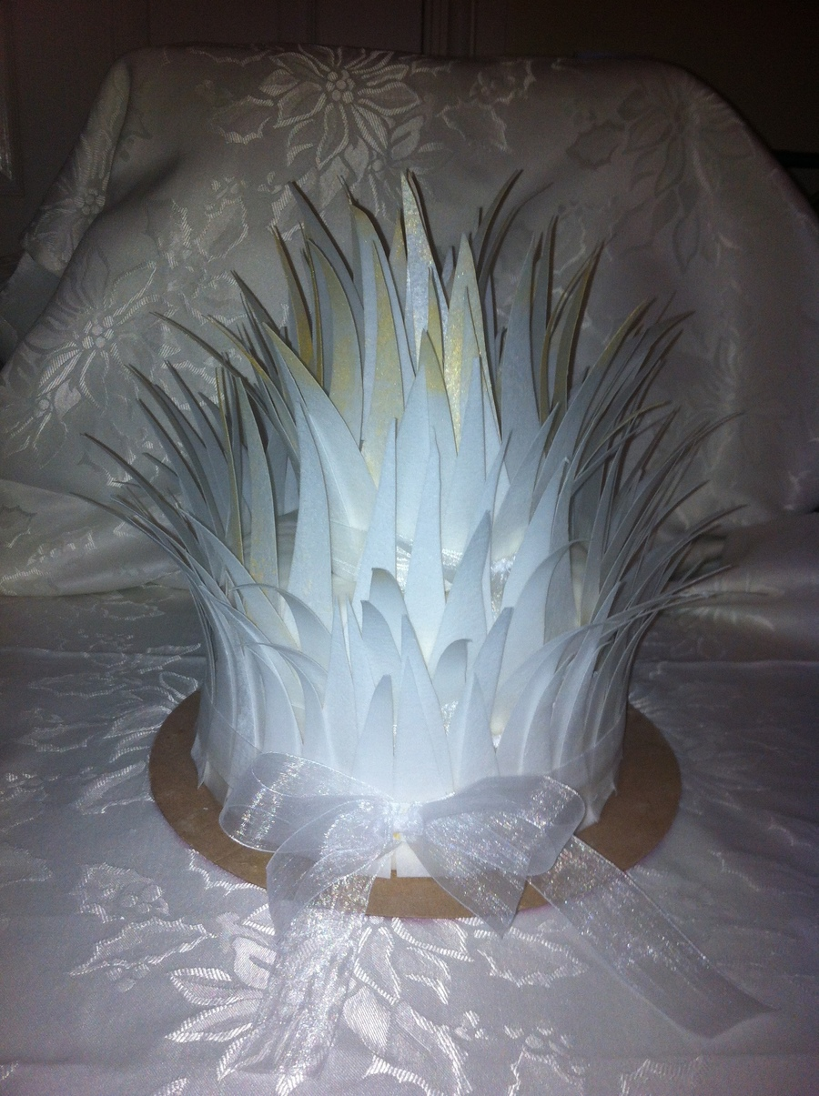 Angel Feather Wedding Cake  on Cake Central