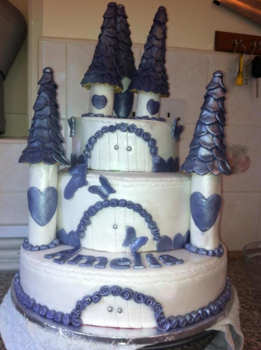 Purple Castle on Cake Central
