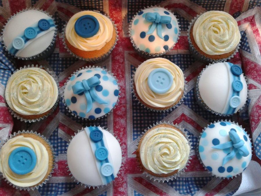 Vanilla Cupcakes For A Friends Nephews 1St Birthday Done With 48 Hours Notice on Cake Central